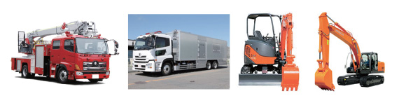 Mobile equipment - fire trucks, power trucks and construction machinery